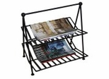 Iron Magazine Rack - Black - Pangaea Home and Garden Furniture - FM-C4381-K