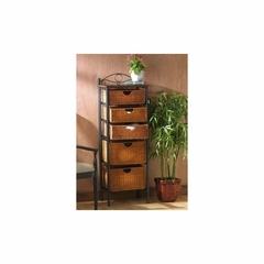 Iron/Wicker Five Drawer Unit - Holly and Martin