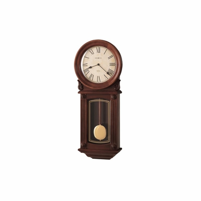 Isabel Chiming Wall Clock in Windsor Cherry - Howard Miller
