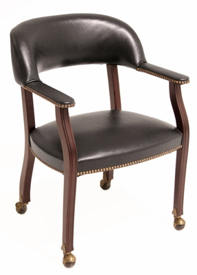 Ivy League Captain Chair with Casters - 9004C