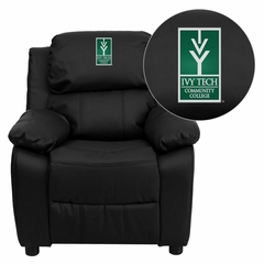 Ivy Tech Community College of Indiana Kids Recliner - BT-7985-KID-BK-LEA-41038-EMB-GG