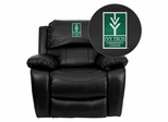 Ivy Tech Community College of Indiana Leather Rocker Recliner - MEN-DA3439-91-BK-41038-EMB-GG