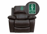 Ivy Tech Community College of Indiana Leather Rocker Recliner - MEN-DA3439-91-BRN-41038-EMB-GG