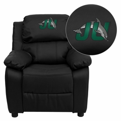 Jacksonville University Dolphins Leather Kids Recliner - BT-7985-KID-BK-LEA-41039-EMB-GG
