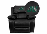 Jacksonville University Dolphins Leather Rocker Recliner - MEN-DA3439-91-BK-41039-EMB-GG