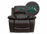 Jacksonville University Dolphins Leather Rocker Recliner  - MEN-DA3439-91-BRN-41039-EMB-GG
