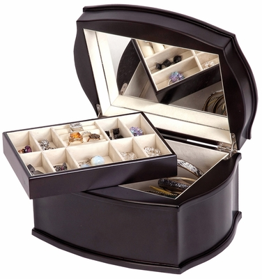 Jacquelyn Wooden Jewelry Box in Java - 00860S13