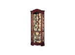 Jamestown Corner Curio Cabinet in Windsor Cherry - Howard Miller