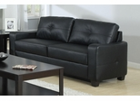 Jasmine Black Leather Sofa - 502721