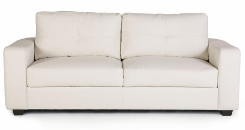 Jasmine Leather Sofa in White - 502711