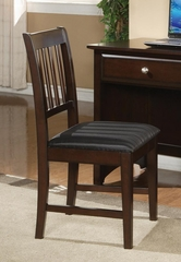 Jasper Armless Office Side Chair in Cappuccino - 400759