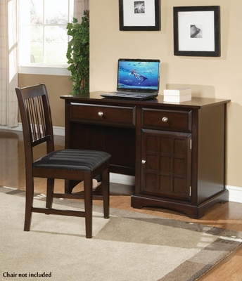 Jasper Single Pedestal Desk in Cappuccino - 400757