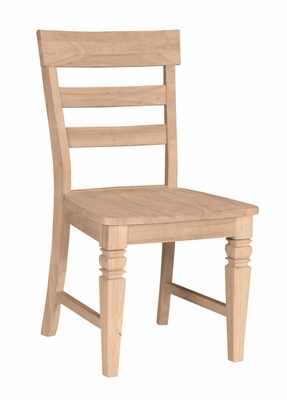 Java Chair with Solid Wood Seat (Set of 2) - C-19P