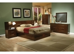 Jessica California King Size Bedroom Furniture Set 1 in Light Cappuccino - Coaster - 200711KW-BSET-1