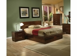 Jessica California King Size Bedroom Furniture Set 2 in Light Cappuccino - Coaster - 200711KW-BSET-2