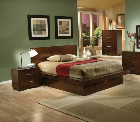 Jessica Eastern King Size Bedroom Furniture Set 2 in Light Cappuccino - Coaster - 200711KE-BSET-2