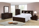 Jessica Eastern King Size Bedroom Furniture Set in Light Cappuccino - Coaster - 200719KE-BSET