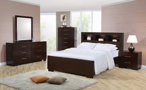 Jessica Queen Size Bedroom Furniture Set in Light Cappuccino - Coaster - 200719Q-BSET