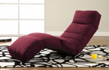 Jet Curved Convertible Lounger in Burgundy - TT-NJA-D2-BY