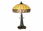Jewel Square Panel Tiffany Table Lamp - Dale Tiffany