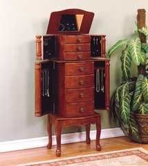"Jewelry Armoire in ""Classic Cherry"" - Powell Furniture - 881-315"