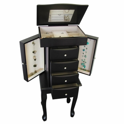 Jewelry Armoire in Java - Racquel - Jewelry Boxes by Mele - 00905S11