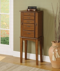 Jewelry Armoire in Nut Brown - Coaster