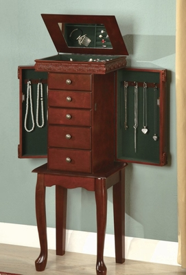 Jewelry Armoire in Rich Brown - Coaster