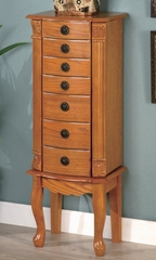 Jewelry Armoire in Warm Oak - Coaster