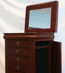 "Jewelry Armoire - Louis Philippe ""Marquis Cherry"" - Powell Furniture - 508-315"