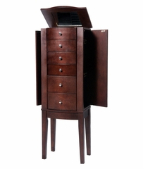 "Jewelry Armoire - ""Merlot"" - Powell Furniture - 398-315"