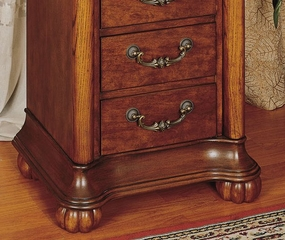 "Jewelry Armoire - ""Wilmington Cherry"" and Burl - Powell Furniture - 519-314"