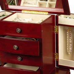 Jewelry Box in Cherry - Harmony - Jewelry Boxes by Mele - 0041311