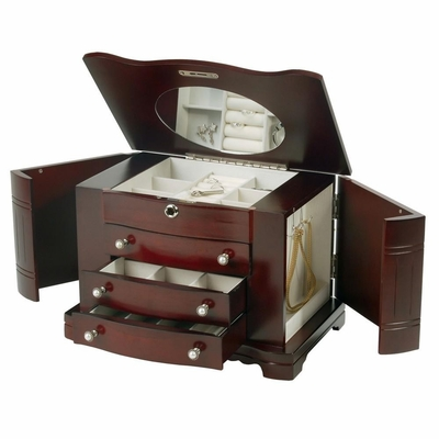 Jewelry Box in Cherry - Rita - Jewelry Boxes by Mele - 0074511