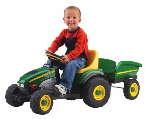 John Deere Farm Tractor and Trailer - Peg Perego - IGCD0522
