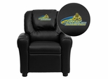 John Jay College of Criminal Justice Bloodhounds Embroidered Black Vinyl Kids Recliner - DG-ULT-KID-BK-41040-EMB-GG