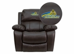 John Jay College of Criminal Justice Bloodhounds Leather Rocker Recliner - MEN-DA3439-91-BRN-41040-EMB-GG