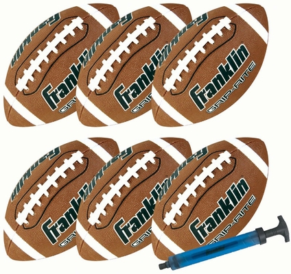 Jr. GRIP RITE Football - 6 Pack with Pump - Franklin Sports