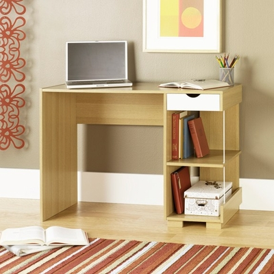Juice Home Office Desk Rice / White Oak - Sauder Furniture - 410895