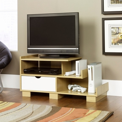 Juice Panel TV Stand Rice / White Oak - Sauder Furniture - 410957