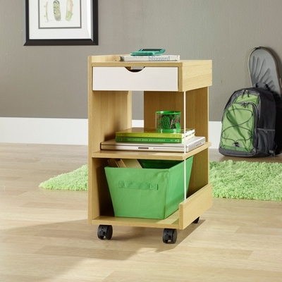 Juice Utility Cart Rice / White Oak - Sauder Furniture - 410639