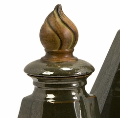 Julian Lidded Bottles (Set of 3) - IMAX - 94342-3