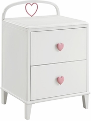 Juliette 2 Drawer Nightstand in White - 400572