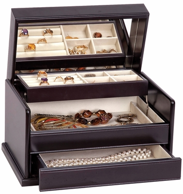 Juliette Wooden Jewelry Box in Java - 00840S13