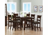 Julius 7 Piece Pub Table & Upholstered Stool Set - 100458