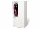 Junior Wardrobe with 3 Drawers in White - Prepac Furniture - JWD-3060