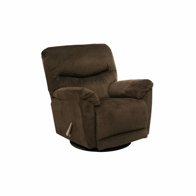 Juniper Chocolate Chaise Swivel Glider Recliner - Catnapper