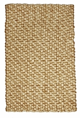Jute Rug - 8' x 10' - Mumbai Deep Pile Hand Spun Natural Jute and Wool Rug - AMB0316-0810