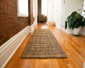 "Jute Rug - 30"" x 96"" - Gobi Hand Spun Jute Boucle Area Rug in Brown / Beige / Green - AMB0306-0268"