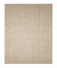 Jute Rug - 5' x 8' - Zatar Ribbed Loop Pile Natural Wool and Jute Area Rug in Ivory / Beige - AMB0308-0058